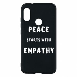 Etui na Mi A2 Lite Peace starts with empathy