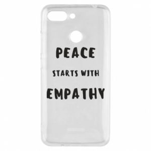 Etui na Xiaomi Redmi 6 Peace starts with empathy