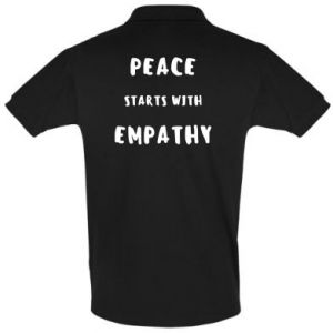 Koszulka Polo Peace starts with empathy