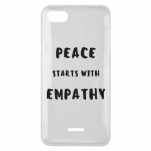 Etui na Xiaomi Redmi 6A Peace starts with empathy