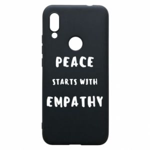 Etui na Xiaomi Redmi 7 Peace starts with empathy