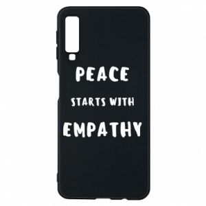 Etui na Samsung A7 2018 Peace starts with empathy