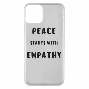 Etui na iPhone 11 Peace starts with empathy