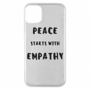 Etui na iPhone 11 Pro Peace starts with empathy