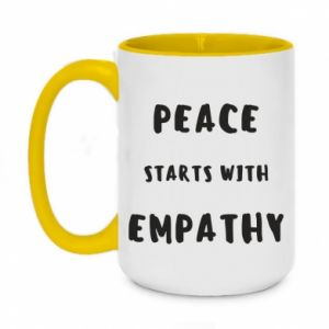 Kubek dwukolorowy 450ml Peace starts with empathy