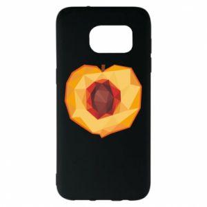Etui na Samsung S7 EDGE Peach graphics