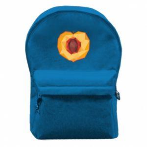 Plecak z przednią kieszenią Peach graphics