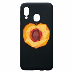 Etui na Samsung A40 Peach graphics
