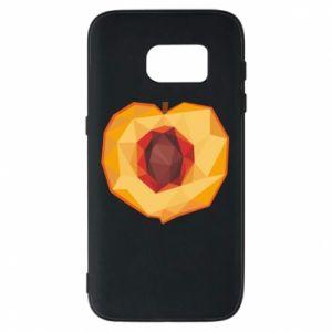 Etui na Samsung S7 Peach graphics
