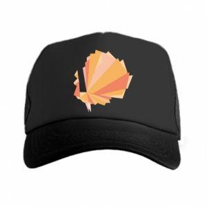 Trucker hat Peacock Abstraction - PrintSalon
