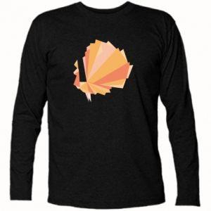 Long Sleeve T-shirt Peacock Abstraction - PrintSalon