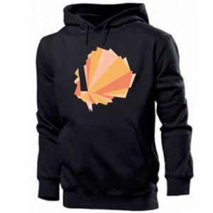 Men's hoodie Peacock Abstraction - PrintSalon