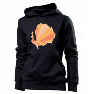 Women's hoodies Peacock Abstraction - PrintSalon
