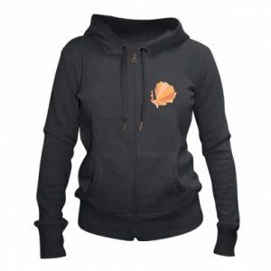 Women's zip up hoodies Peacock Abstraction - PrintSalon