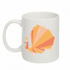 Mug 330ml Peacock Abstraction - PrintSalon