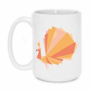Mug 450ml Peacock Abstraction - PrintSalon