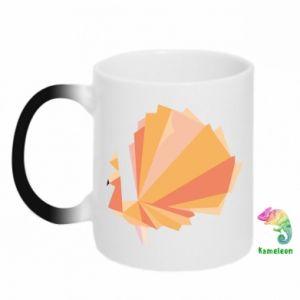 Chameleon mugs Peacock Abstraction - PrintSalon