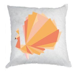 Pillow Peacock Abstraction - PrintSalon