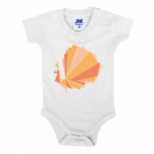 Baby bodysuit Peacock Abstraction - PrintSalon