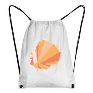Backpack-bag Peacock Abstraction - PrintSalon