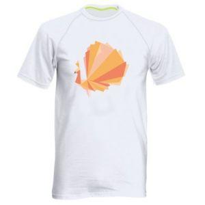 Men's sports t-shirt Peacock Abstraction - PrintSalon