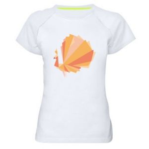 Women's sports t-shirt Peacock Abstraction - PrintSalon