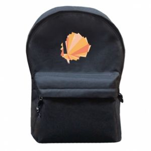 Backpack with front pocket Peacock Abstraction - PrintSalon