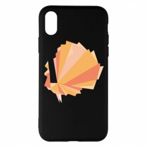 Phone case for iPhone X/Xs Peacock Abstraction - PrintSalon