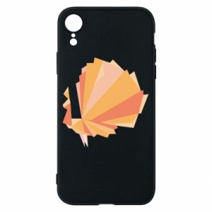 Phone case for iPhone XR Peacock Abstraction - PrintSalon