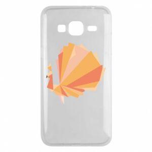 Phone case for Samsung J3 2016 Peacock Abstraction - PrintSalon