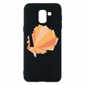 Phone case for Samsung J6 Peacock Abstraction - PrintSalon