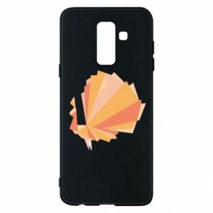 Phone case for Samsung A6+ 2018 Peacock Abstraction - PrintSalon