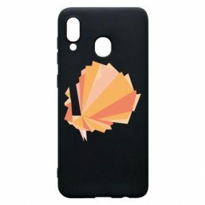 Phone case for Samsung A20 Peacock Abstraction - PrintSalon