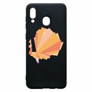 Phone case for Samsung A30 Peacock Abstraction - PrintSalon
