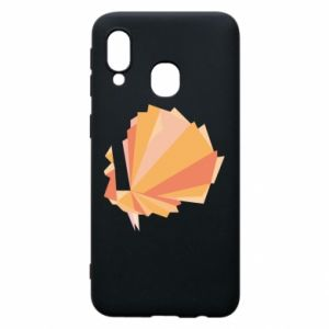 Phone case for Samsung A40 Peacock Abstraction - PrintSalon
