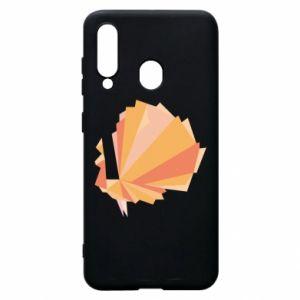 Phone case for Samsung A60 Peacock Abstraction - PrintSalon