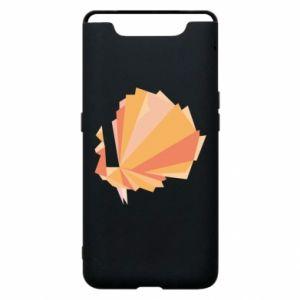 Phone case for Samsung A80 Peacock Abstraction - PrintSalon