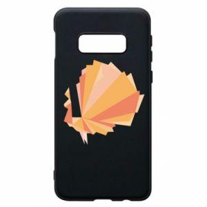 Phone case for Samsung S10e Peacock Abstraction - PrintSalon