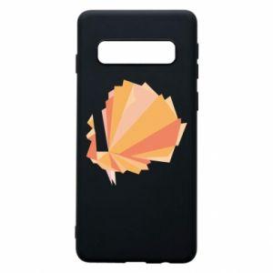 Phone case for Samsung S10 Peacock Abstraction - PrintSalon