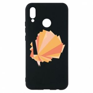 Phone case for Huawei P20 Lite Peacock Abstraction - PrintSalon