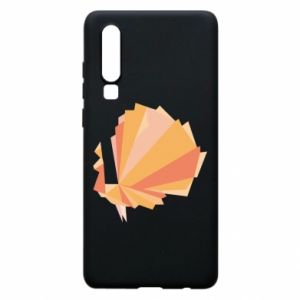 Phone case for Huawei P30 Peacock Abstraction - PrintSalon