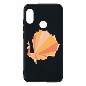 Phone case for Mi A2 Lite Peacock Abstraction - PrintSalon