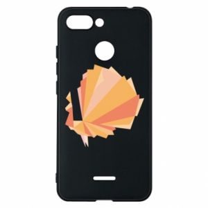 Phone case for Xiaomi Redmi 6 Peacock Abstraction - PrintSalon