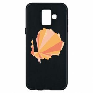 Phone case for Samsung A6 2018 Peacock Abstraction - PrintSalon