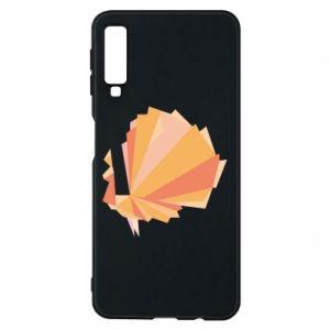 Phone case for Samsung A7 2018 Peacock Abstraction - PrintSalon