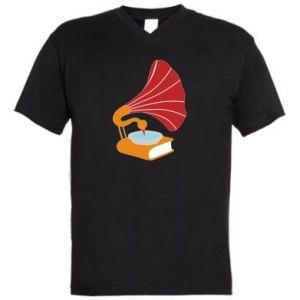 Męska koszulka V-neck Peacock