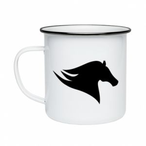 Kubek emaliowane Wild Horse