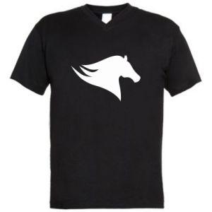 Męska koszulka V-neck Wild Horse