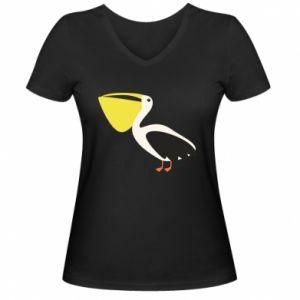 Damska koszulka V-neck Pelican