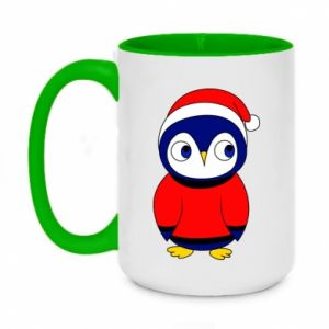 Two-toned mug 450ml Penguin in a hat
